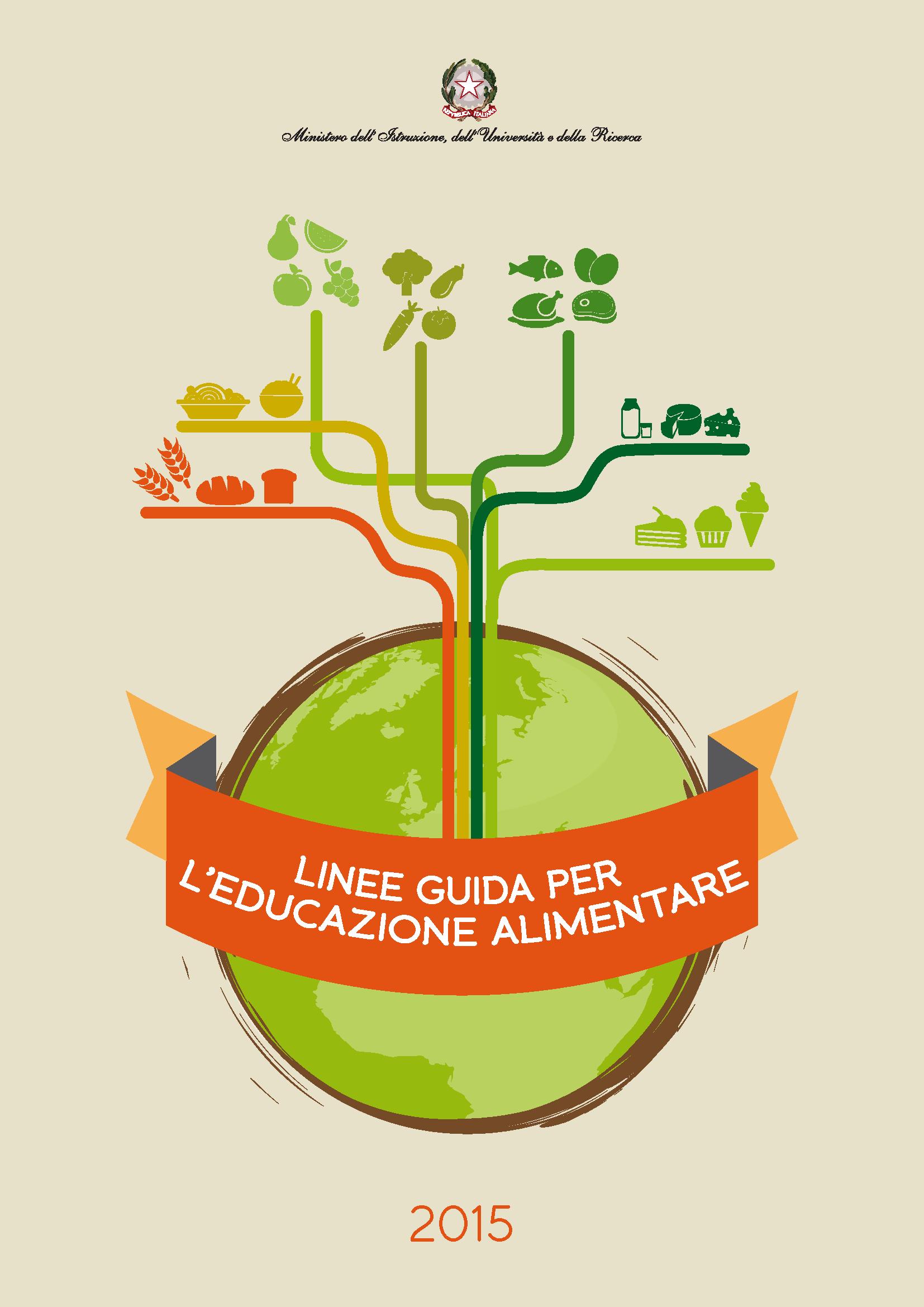 Edizione 2015 delle Linee Guida per l'Educazione Alimentare del MIUR